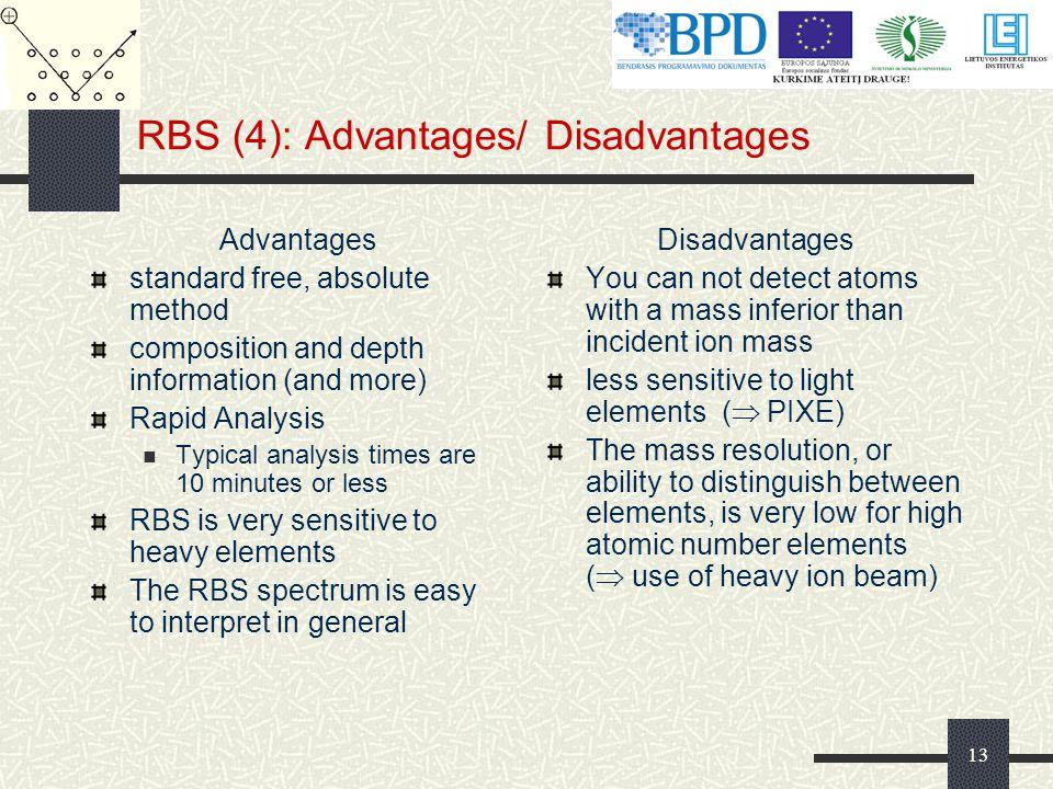 RBS (4): Advantages/ Disadvantages