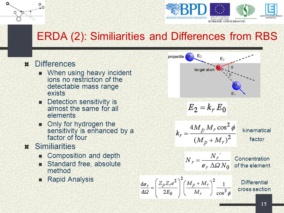 ERDA (2): Similiarities and Differences from RBS
