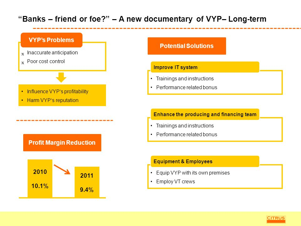 Banks – friend or foe – A new documentary of VYP– Long-term