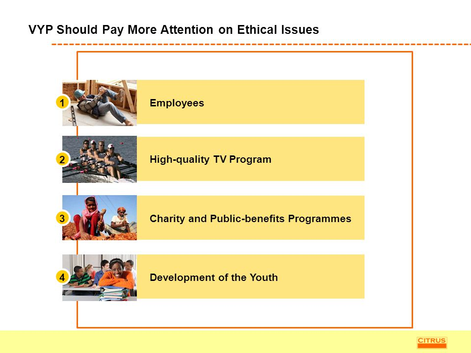 VYP Should Pay More Attention on Ethical Issues