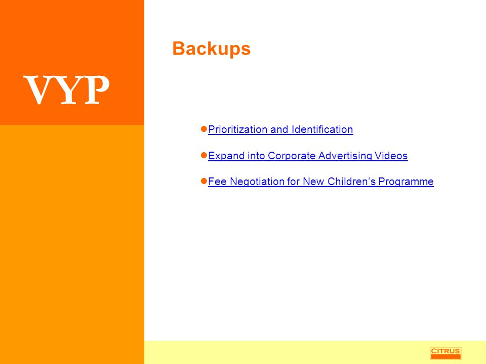Backups Prioritization and Identification