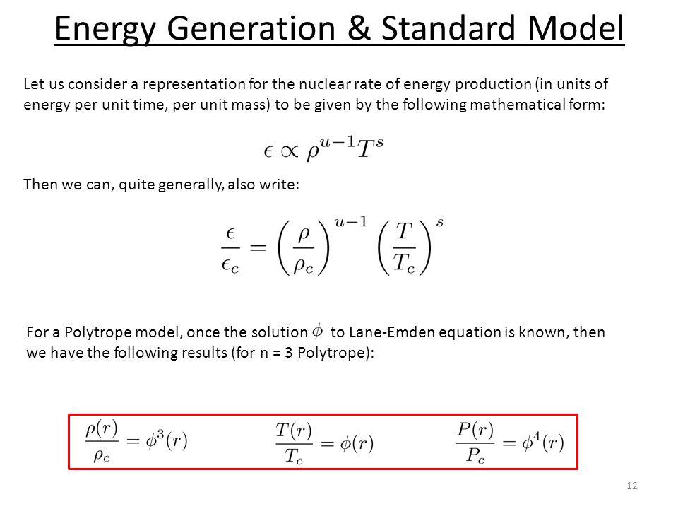 Energy Generation & Standard Model