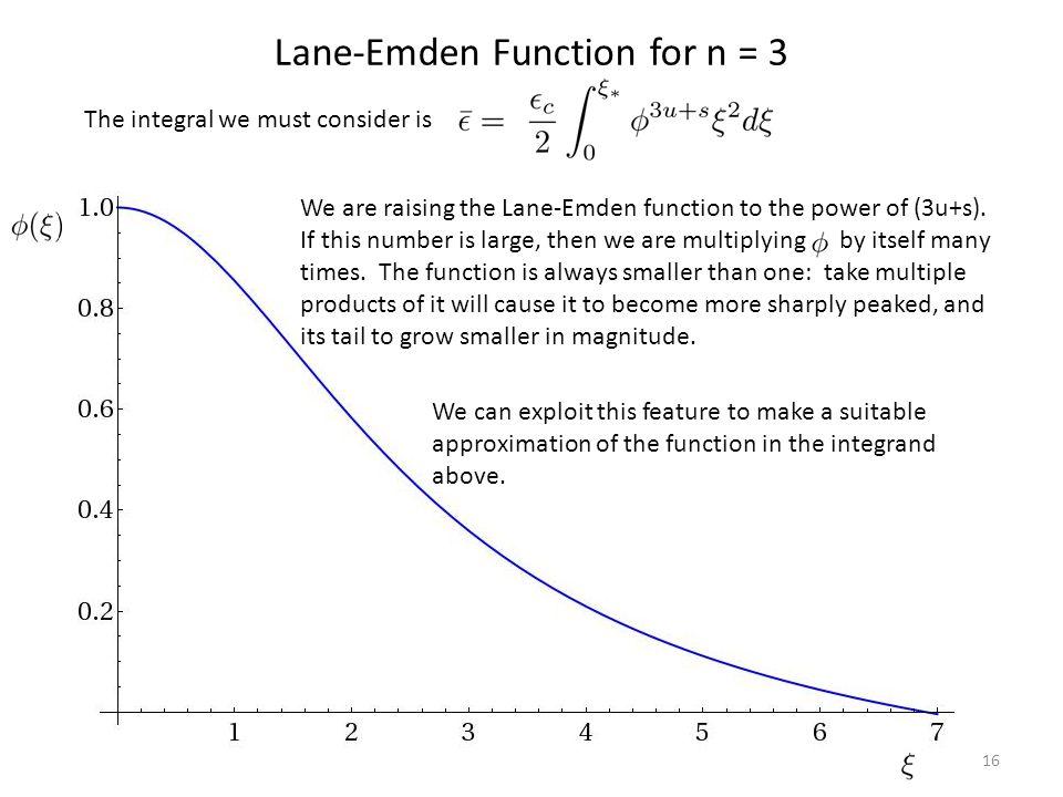Lane-Emden Function for n = 3