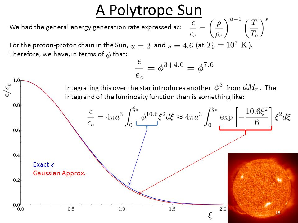 A Polytrope Sun We had the general energy generation rate expressed as: