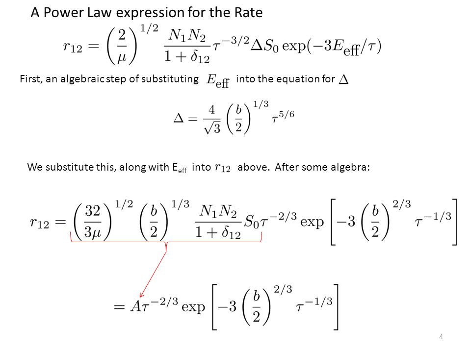 A Power Law expression for the Rate