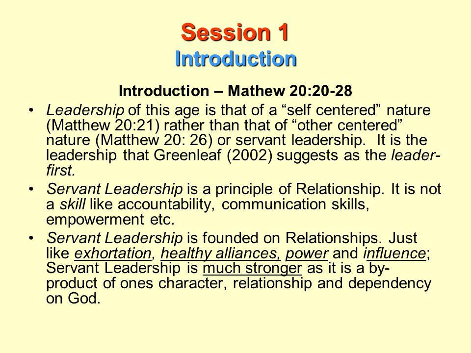 Introduction – Mathew 20:20-28