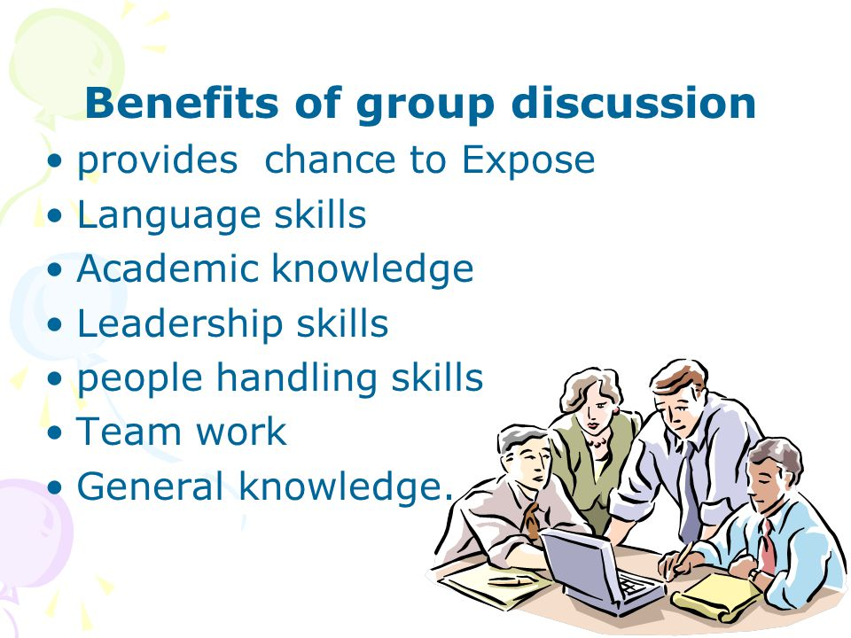 Benefits of group discussion