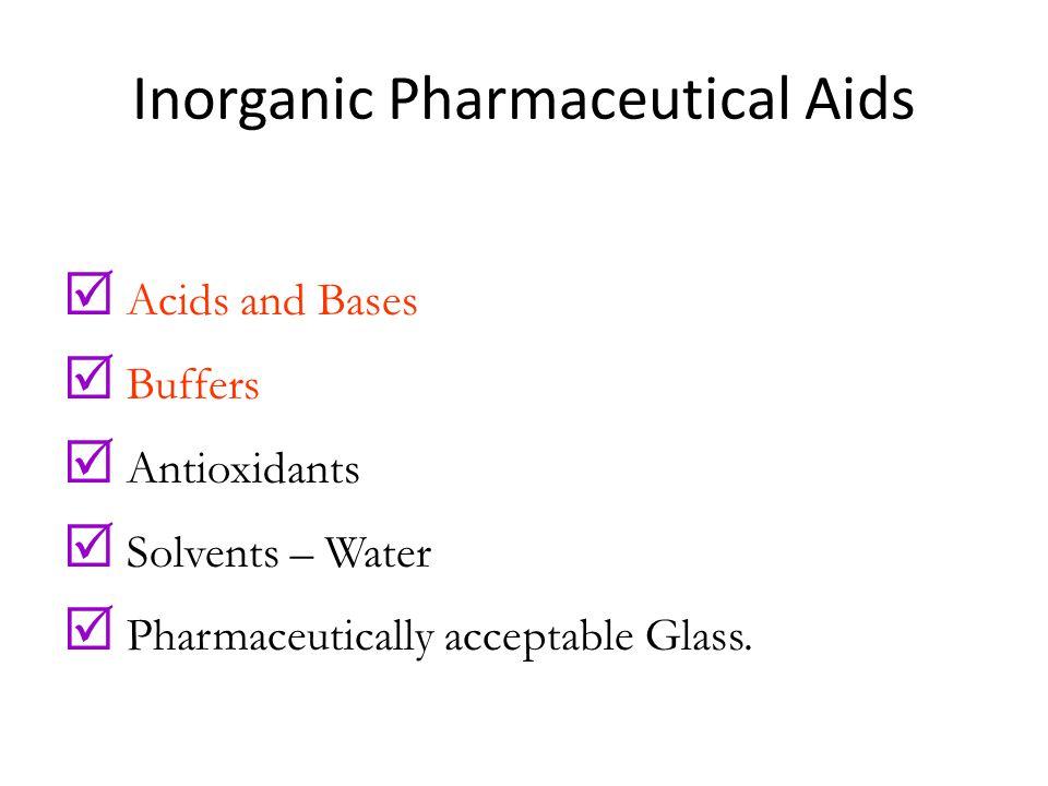 Inorganic Pharmaceutical Aids