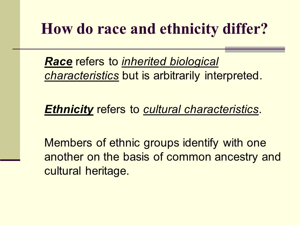How do race and ethnicity differ