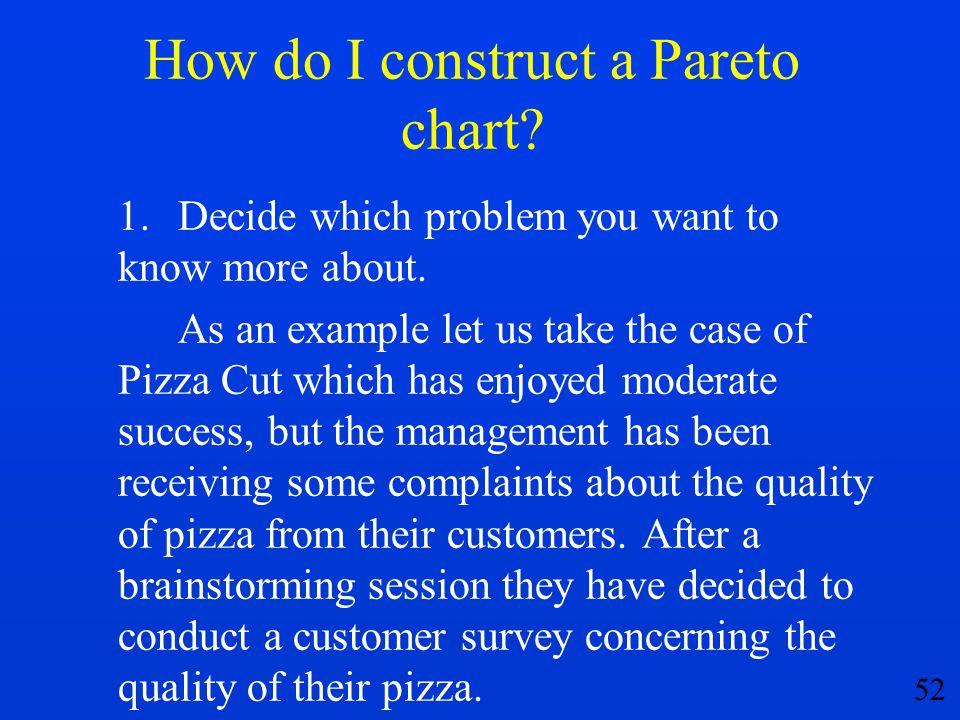 How do I construct a Pareto chart