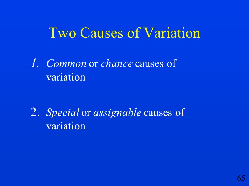 Two Causes of Variation
