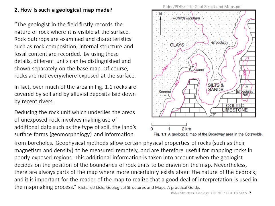 2. How is such a geological map made