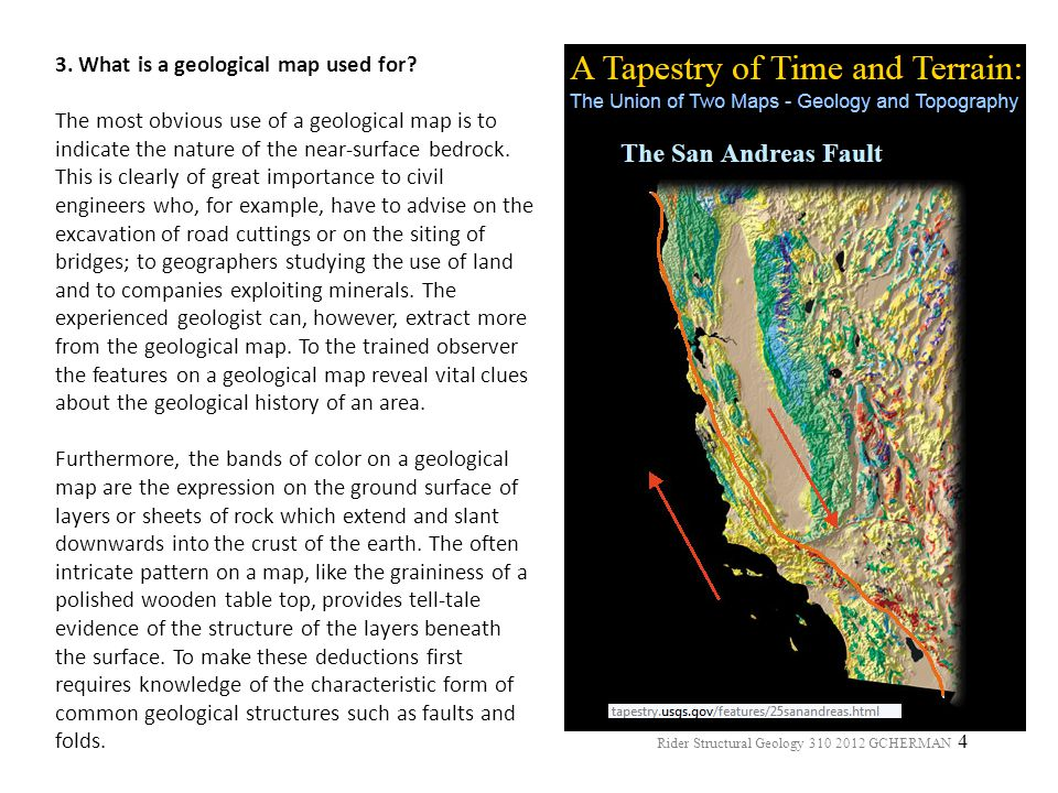 3. What is a geological map used for