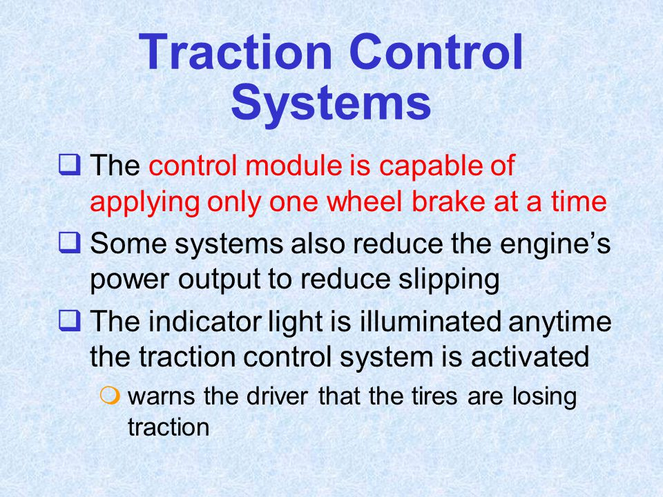 Traction Control Systems