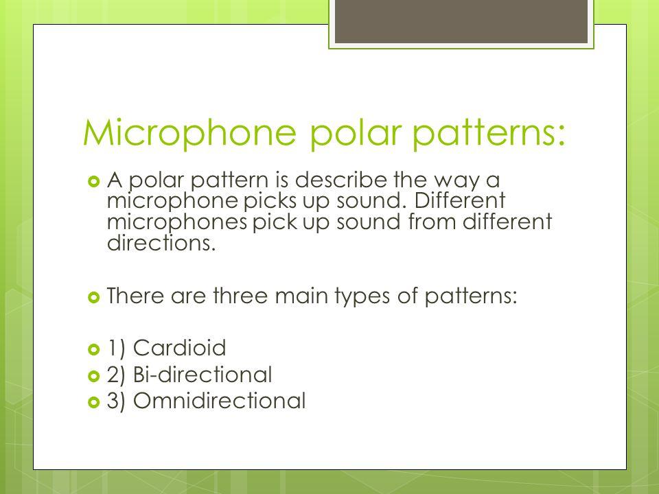 Microphone polar patterns: