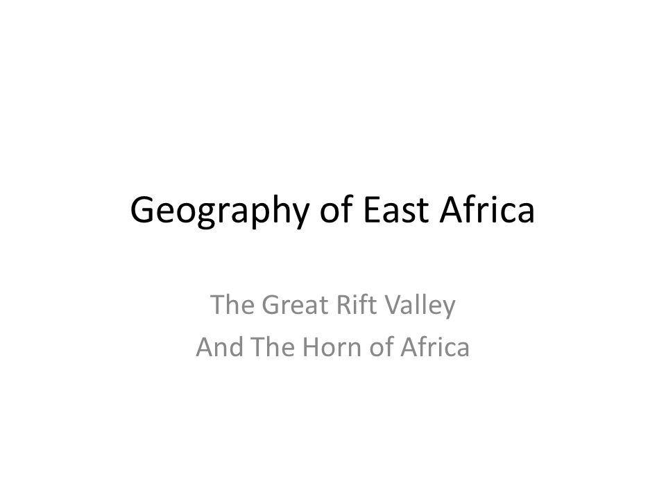 Geography of East Africa