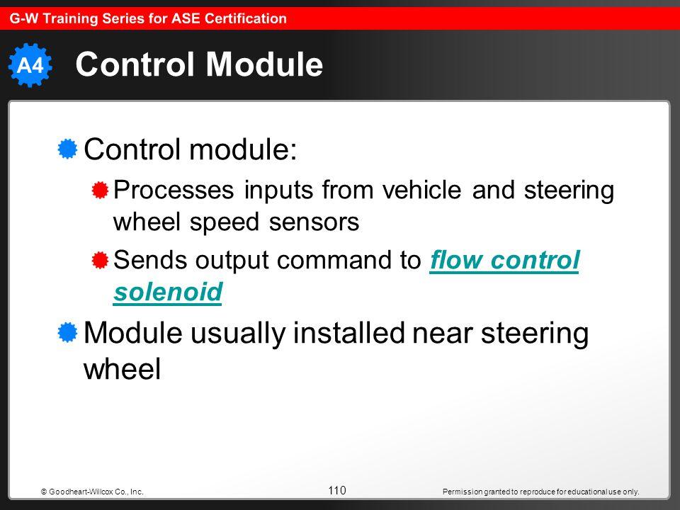 Control Module Control module: