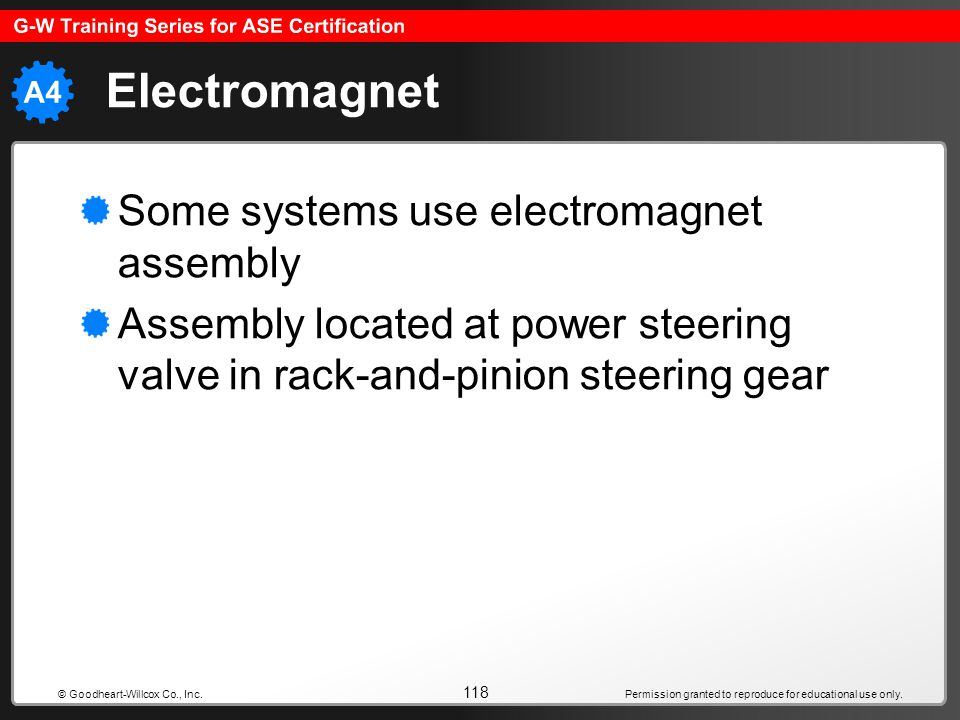 Electromagnet Some systems use electromagnet assembly