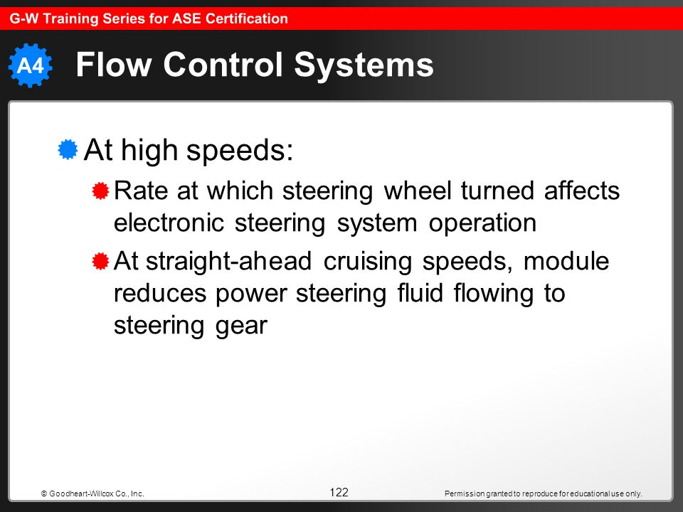 Flow Control Systems At high speeds: