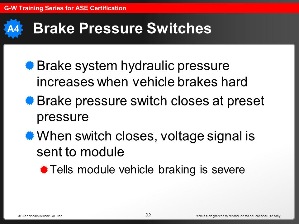 Brake Pressure Switches