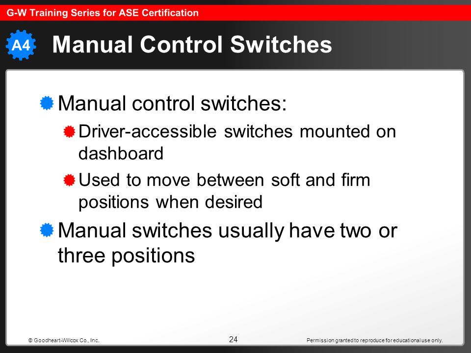 Manual Control Switches