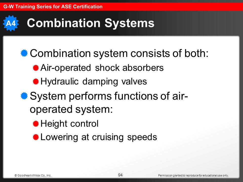 Combination Systems Combination system consists of both: