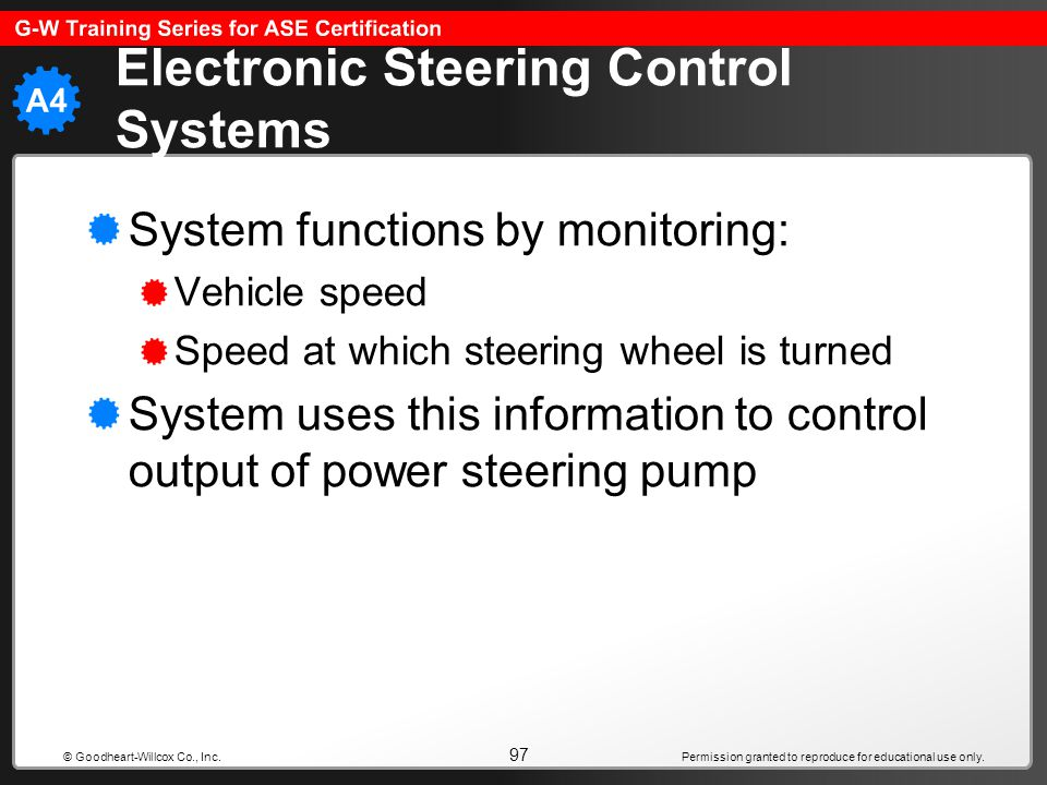 Electronic Steering Control Systems