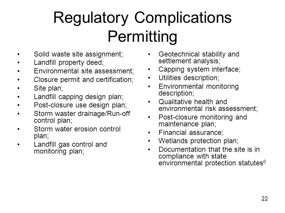 Regulatory Complications Permitting
