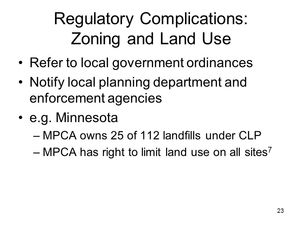 Regulatory Complications: Zoning and Land Use