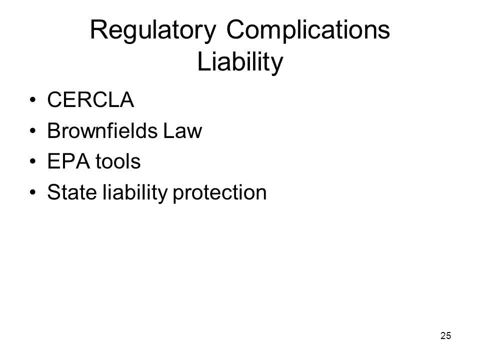 Regulatory Complications Liability
