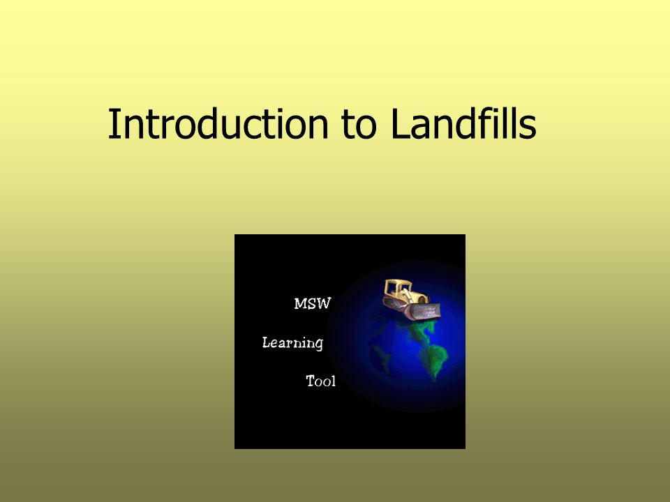 Introduction to Landfills