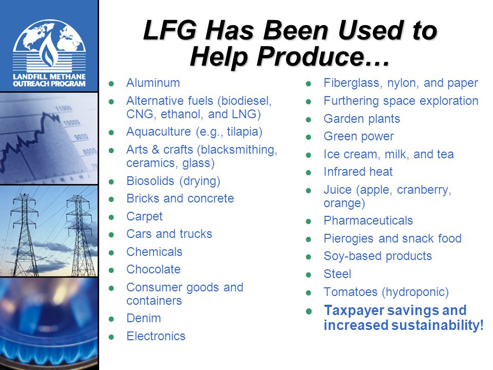 LFG Has Been Used to Help Produce…