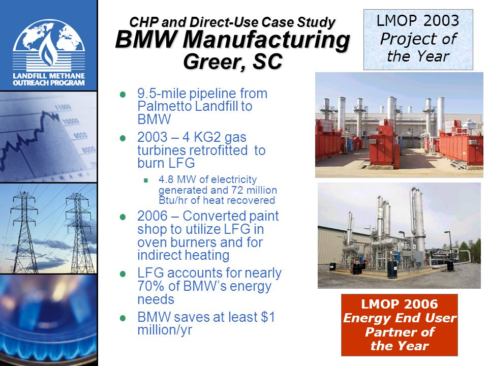 CHP and Direct-Use Case Study BMW Manufacturing Greer, SC