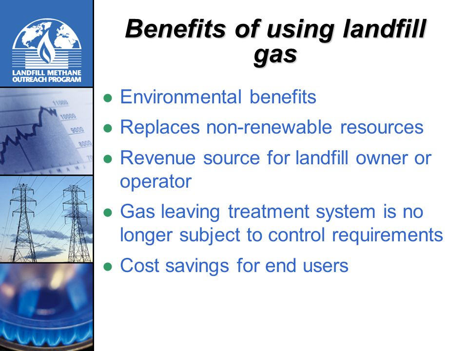 Benefits of using landfill gas