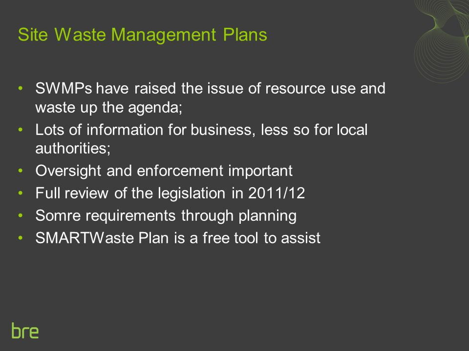 Site Waste Management Plans