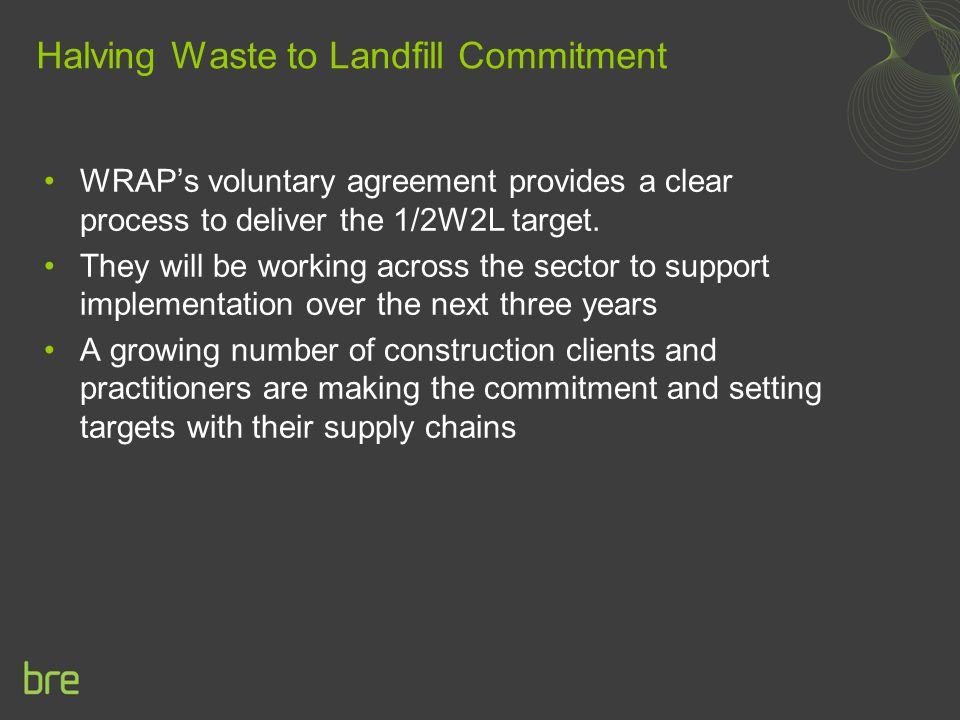 Halving Waste to Landfill Commitment