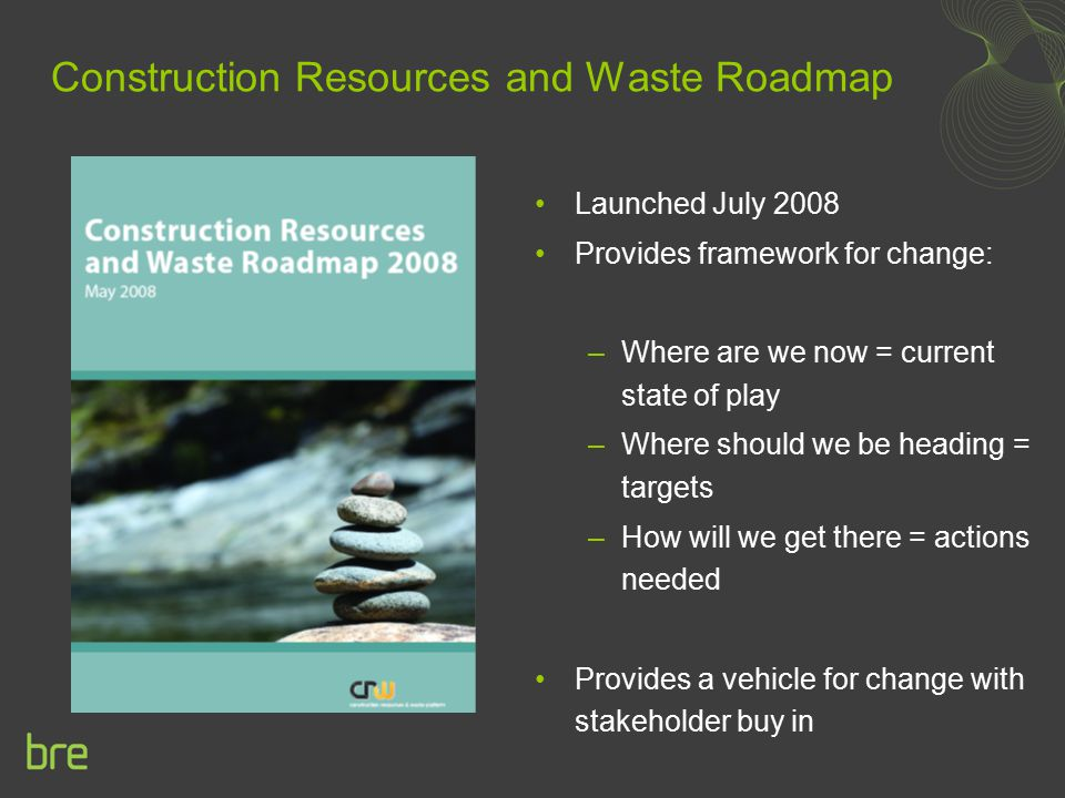 Construction Resources and Waste Roadmap