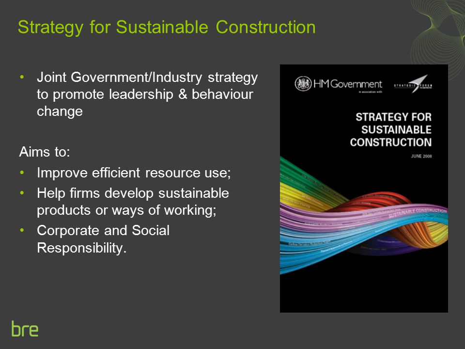 Strategy for Sustainable Construction