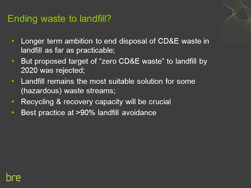 Ending waste to landfill
