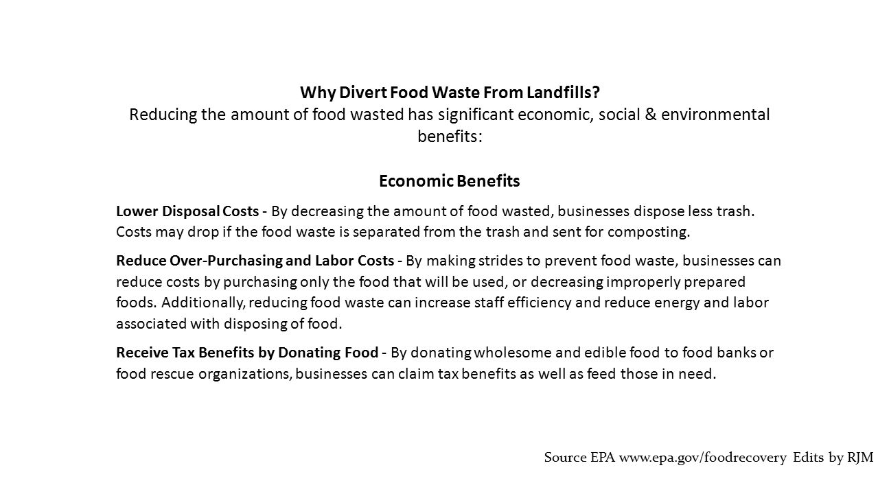 Why Divert Food Waste From Landfills