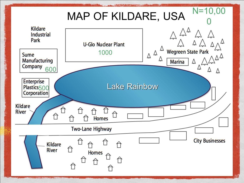 MAP OF KILDARE, USA N=10,000 1000 600 Lake Rainbow 500