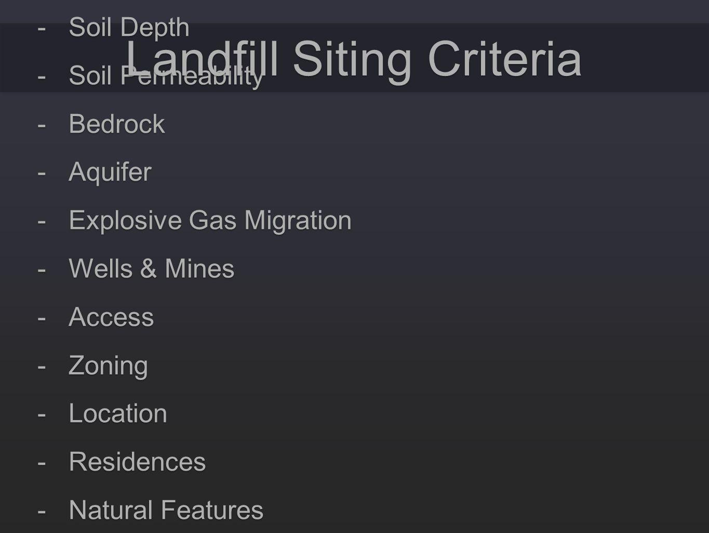 Landfill Siting Criteria