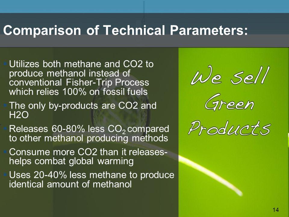 Comparison of Technical Parameters: