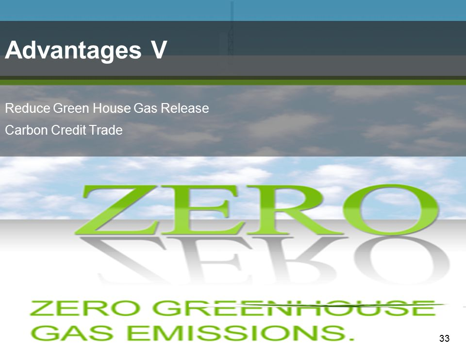 Advantages V Reduce Green House Gas Release Carbon Credit Trade