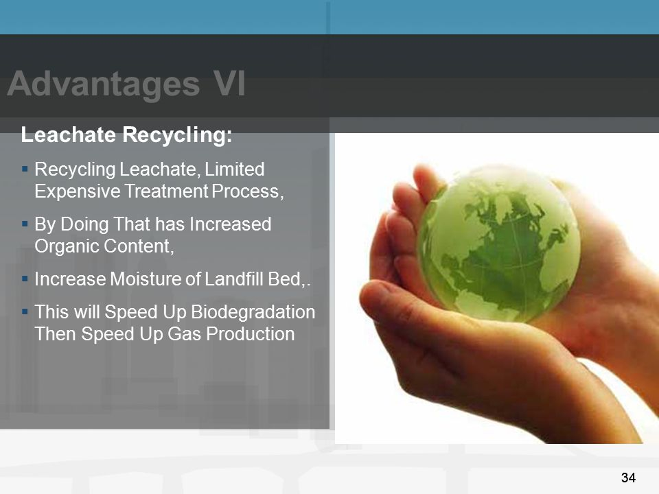 Advantages VI Leachate Recycling: