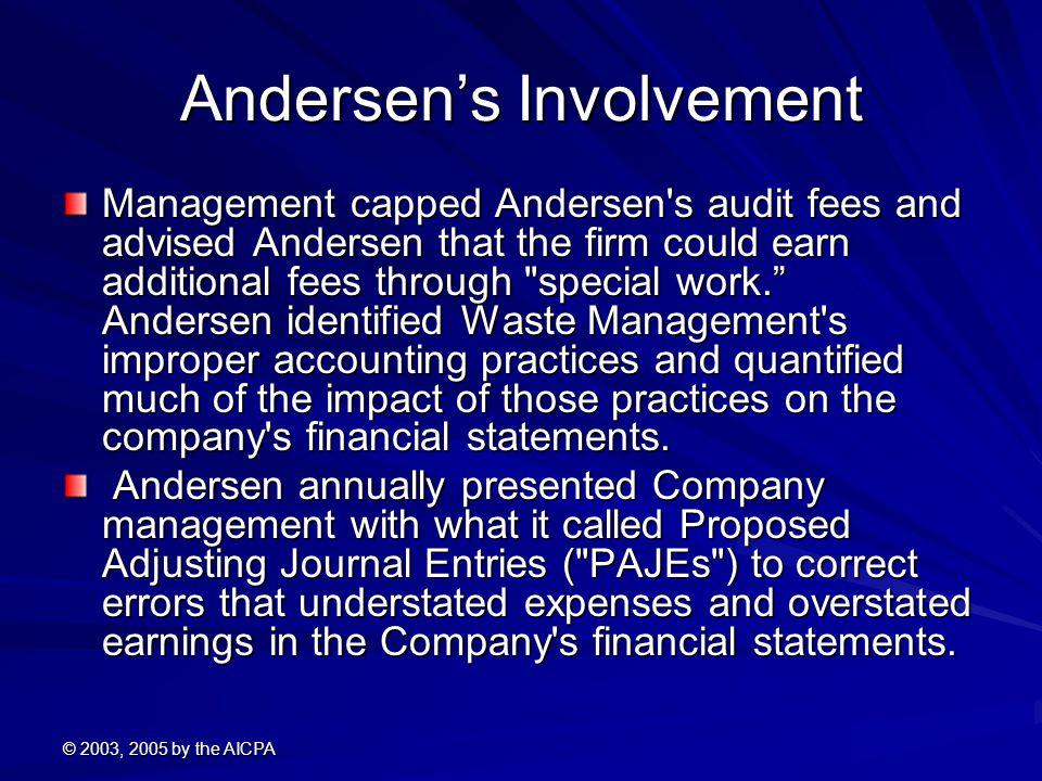 Andersen's Involvement