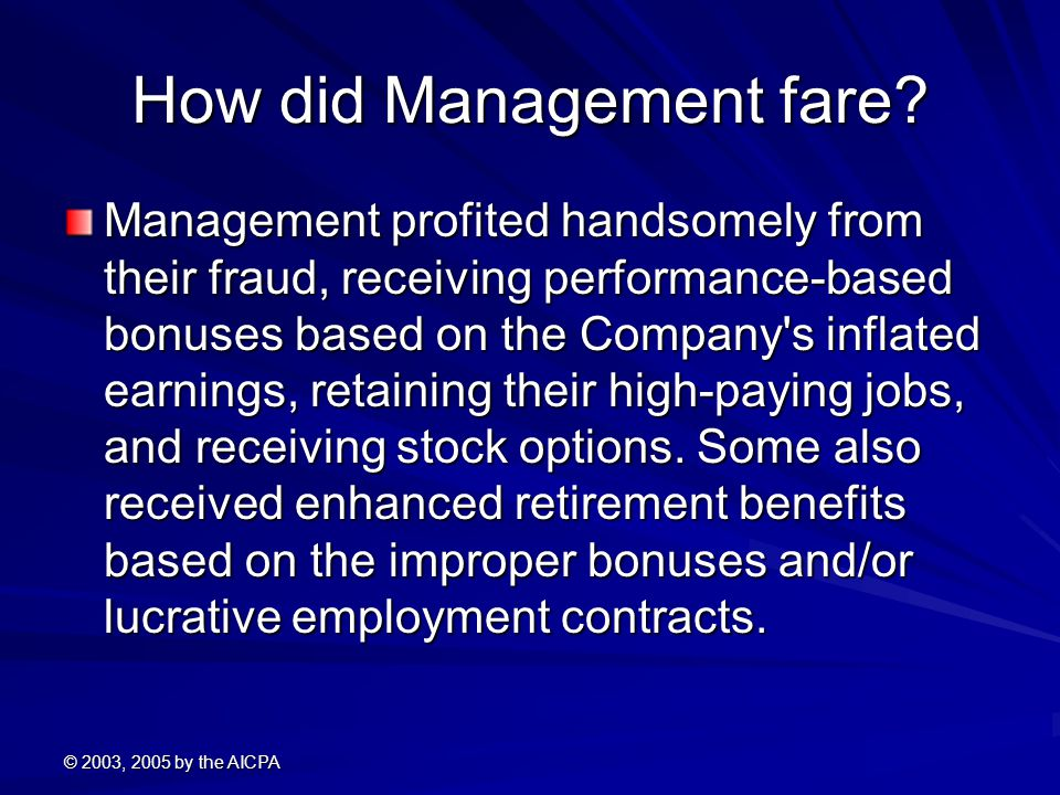How did Management fare