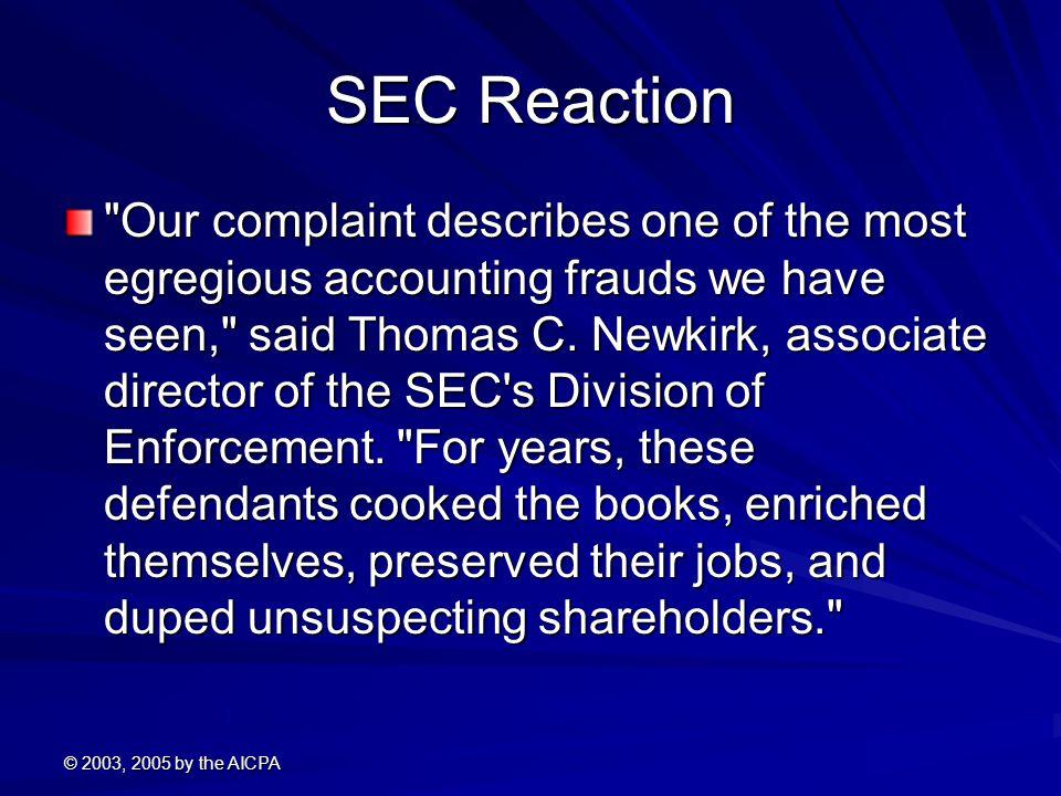 SEC Reaction
