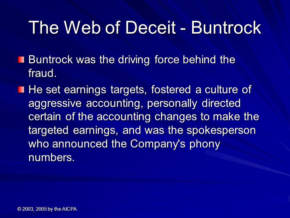 The Web of Deceit - Buntrock