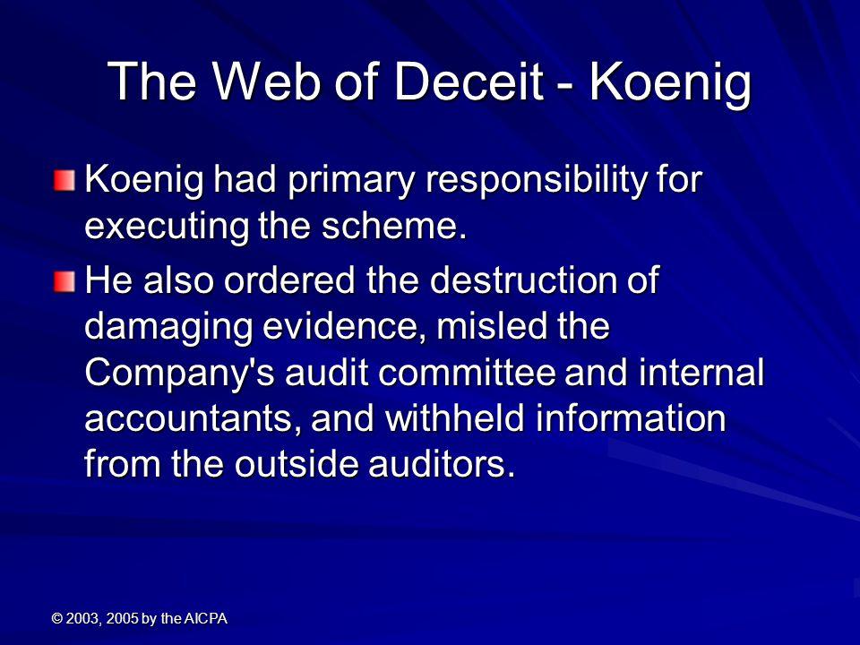 The Web of Deceit - Koenig